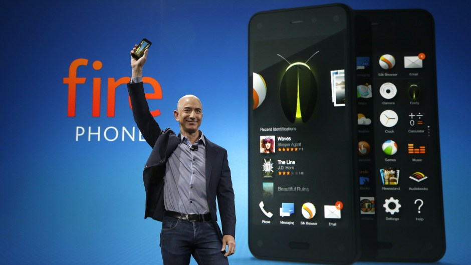 Amazon CEO Jeff Bezos unveils the Fire Phone